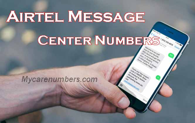 Airtel message centre number