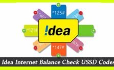 idea internet balance check