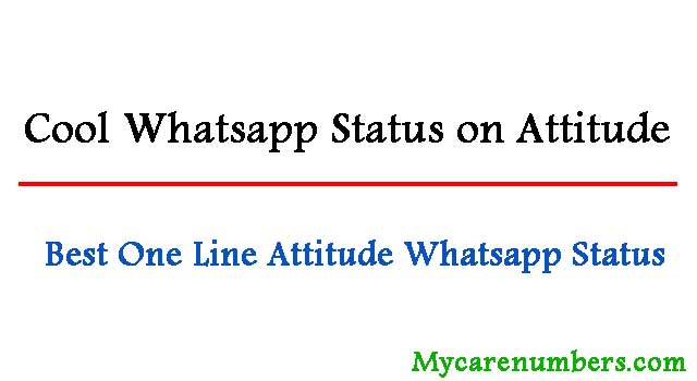 Whatsapp Status on Attitude